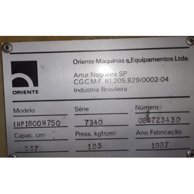 (5228/229) Injetora Oriente  Mod IHP1800H750