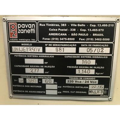 (4748/116) Injetora Pavan Zanetti Mod Unijet 250V